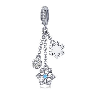 Talisman din argint Silver Snowflake Trio