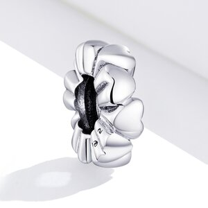 Talisman din argint Simple Hearts Bead