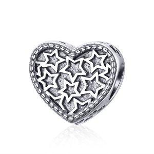 Talisman din argint Simple Stars
