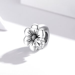 Talisman din argint Single Flower Bead