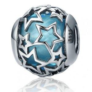 Talisman din argint Sky Blue Stars