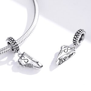 Talisman din argint Sneakers Love