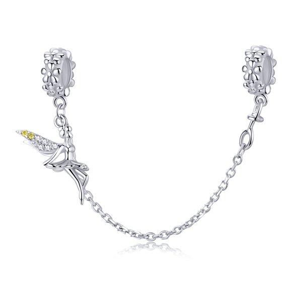 Talisman din argint Sparkling Fairy Safety Chain