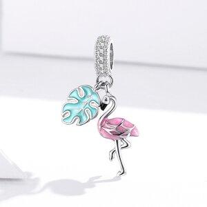 Talisman din argint Sparkling Flamingo