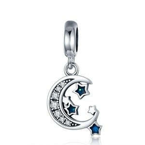 Talisman din argint Sparkling Sky Moon