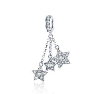 Talisman din argint Sparkling Trio Stars