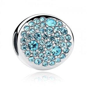 Talisman din argint stralucitor cu Cristale Bleu