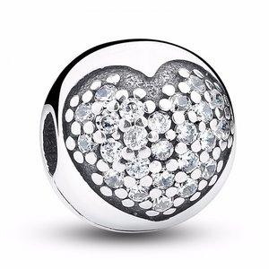 Talisman din argint stralucitor cu Inima