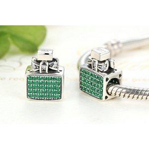 Talisman din argint stralucitor Green Perfume