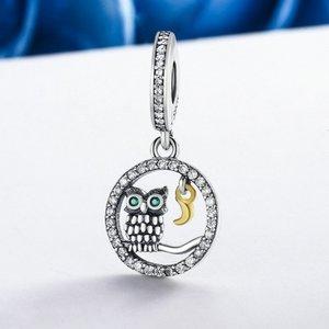Talisman din argint sub forma de Pandantiv cu Bufnita de Poveste