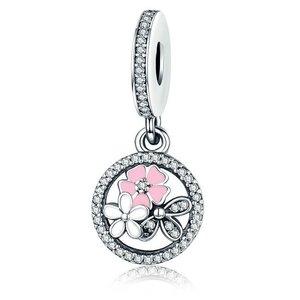 Talisman din argint sub forma de Pandantiv cu Flori Colorate