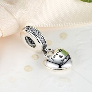 Talisman din argint sub forma de Pandantiv cu Inima Eterna