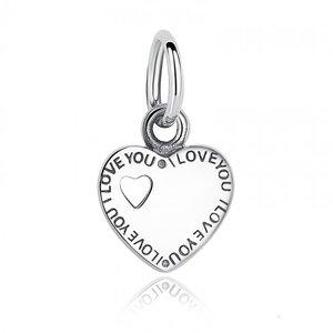 Talisman din argint sub forma de pandantiv cu Inima Gravata