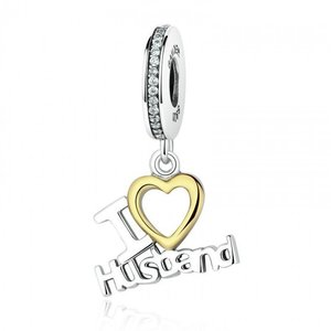 Talisman din argint sub forma de pandantiv I love my Husband