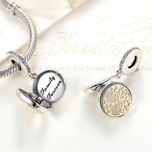 Talisman din argint sub forma de Pandantiv Lacat cu Mesaj