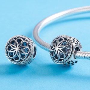 Talisman din argint Summer Silver Flower