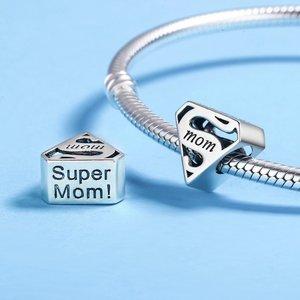 Talisman din argint Super Mom