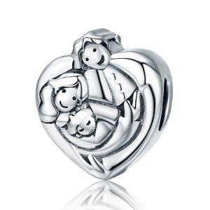 Talisman din argint Sweet Family Embrace