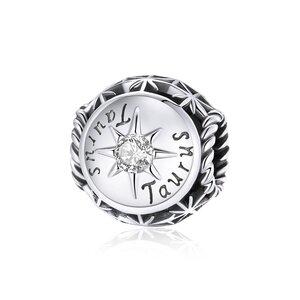 Talisman din argint Taurus Zodiac Sun