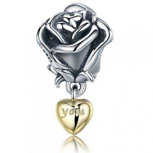 Talisman din argint Trandafir cu Dragoste