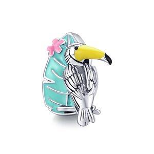 Talisman din argint Tropical Parrot