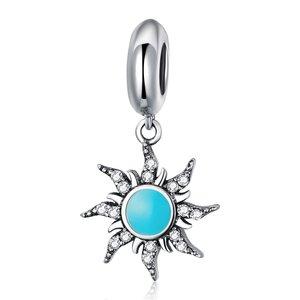 Talisman din argint Turquoise Sun