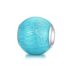 Talisman din argint Turquoise Waves
