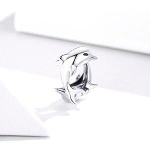Talisman din argint Two Dolphins