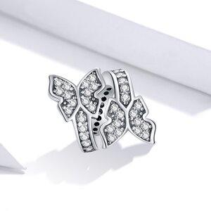 Talisman din argint Two Shiny Butterflies