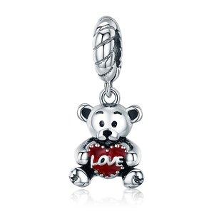 Talisman din argint Ursulet Mr Love