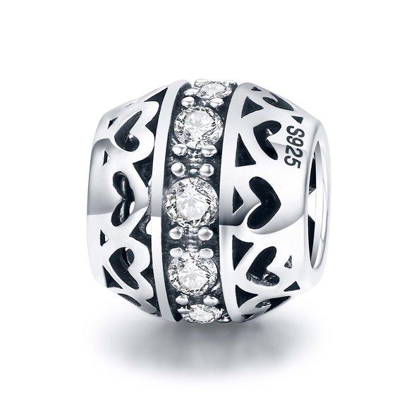 Talisman din argint Valentine Hearts