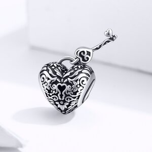 Talisman din argint Vintage Heart and Key