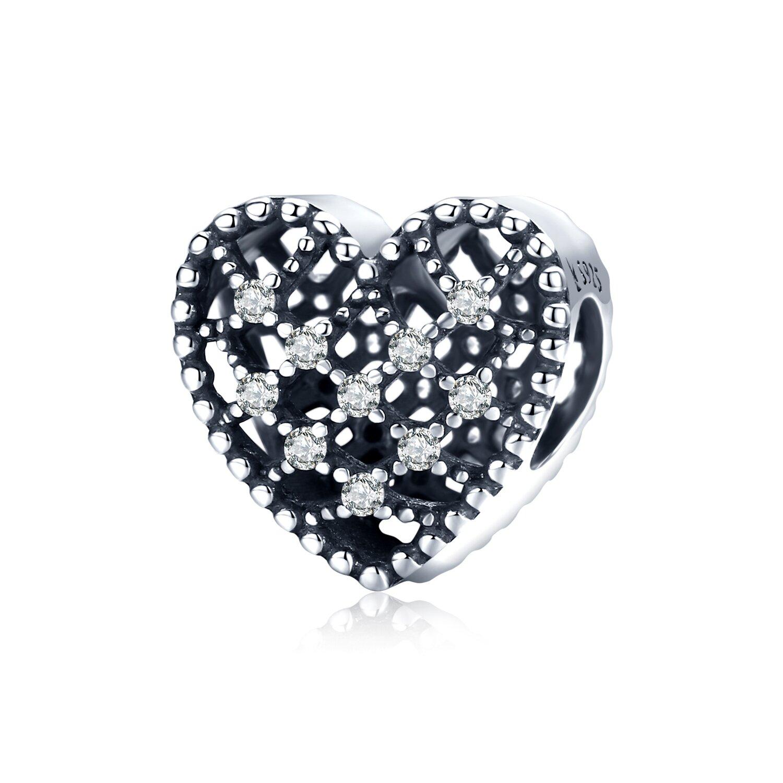 Talisman din argint Vintage Shiny Heart poza 2021