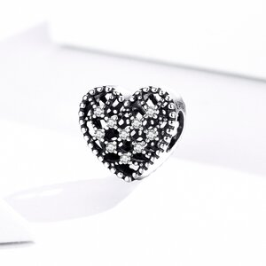 Talisman din argint Vintage Shiny Heart