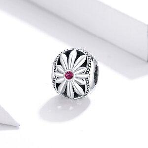 Talisman din argint White Daisy