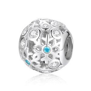 Talisman din argint White Snowflake