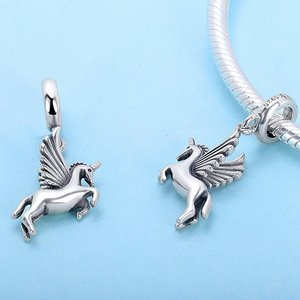 Talisman din argint Winged Unicorn