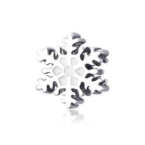 Talisman din argint Winter White Snowflake