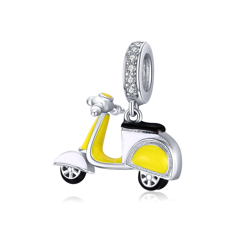 Talisman din argint Yellow Motor Scooter poza 2021