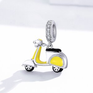 Talisman din argint Yellow Motor Scooter