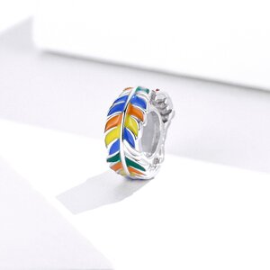 Talisman din Colorful Leafs Bead