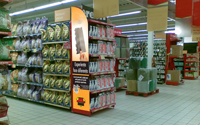 Gondole metalice pentru magazin