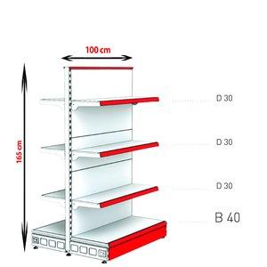 RAFTURI METAL RM-13 Înălțime-165, Lățime-100cm, Bază:40
