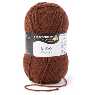 Acrylic yarn Bravo- Brown 08281