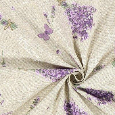 Canvas Linen Look Fabric - Lavender Scent