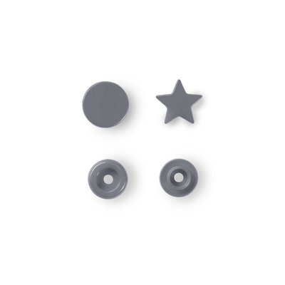 Color Snaps Star - Silver - 30 pcs