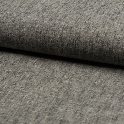 Cotton and linen blend fabric - Black Melange