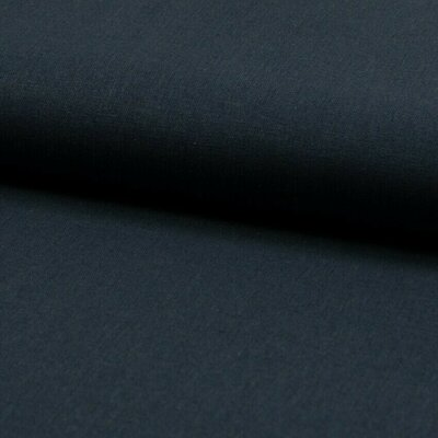 Cotton and linen blend fabric - Navy