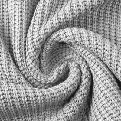 Cotton Knitted Cable - Grey