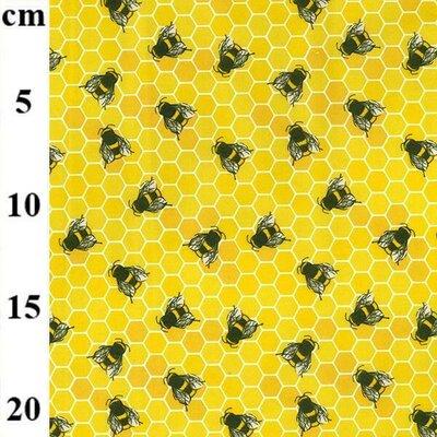 Cotton Poplin - Honey Bees